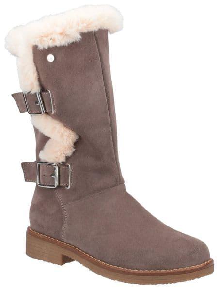 Hush Puppies Megan Ladies Mid Boot Grey